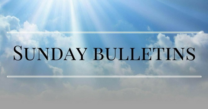 Sunday, April 19 Bulletin
