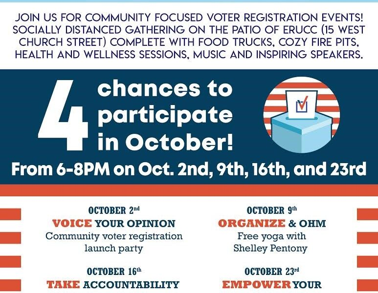 Frederick Votes Events Kick-Off on Friday, October 2